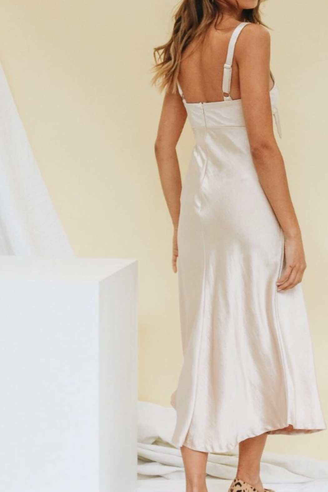 Chikas Champagne Gold Dress - Front Full Image