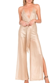 Dance & Marvel Champagne Jumpsuit - Product Mini Image