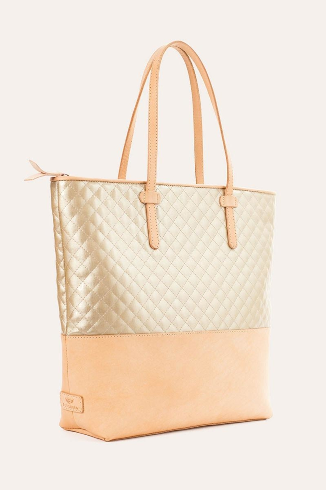 The Birds Nest MARKET TOTE-CANDY CHAMPAGNE - Front Full Image