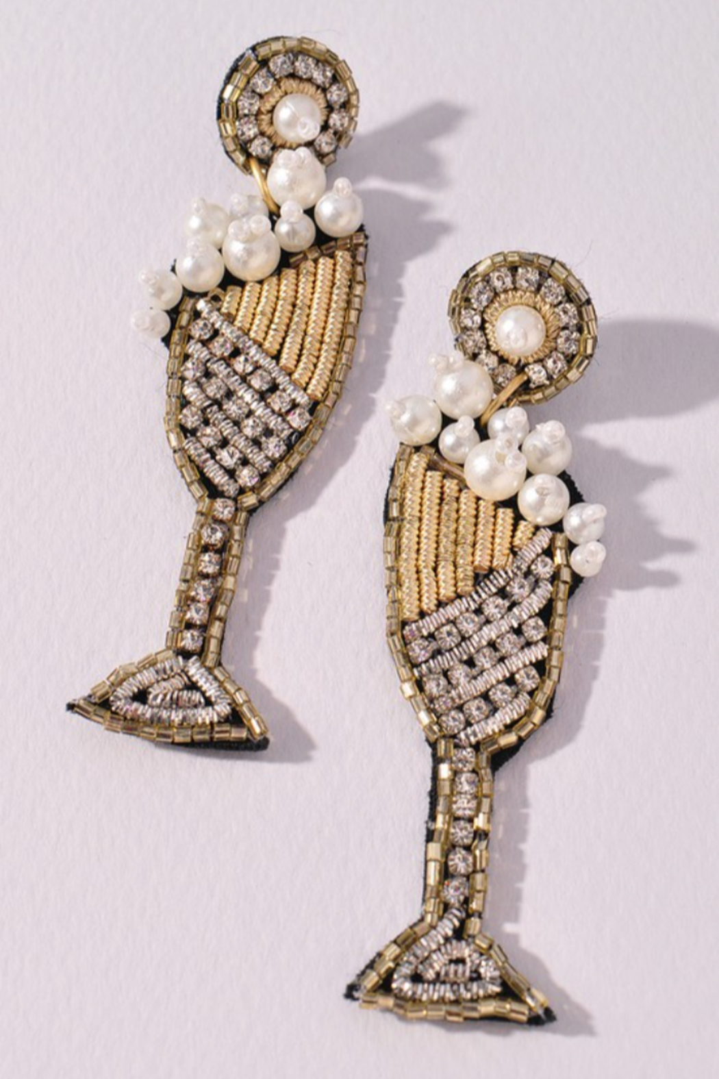 Merveille Champagne POP! Earrings - Front Cropped Image