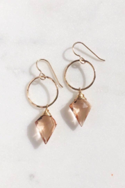 Token Jewelry  Champagne Quartz Drops - Front cropped