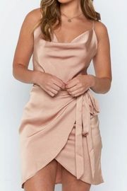 Chikas Champagne Satin Dress - Product Mini Image