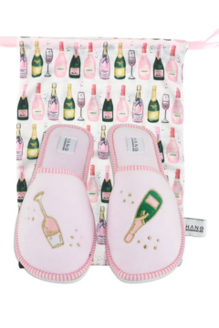 Hang Accessories Champagne Slipper and Pouch Set - Alternate List Image