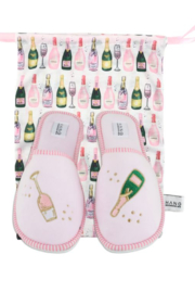 Hang Accessories Champagne Slipper and Pouch Set - Product Mini Image