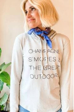 Boat House Apparel Champagne Smores Hoodie - Product List Image
