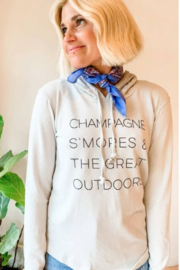 Boat House Apparel Champagne Smores Hoodie - Product Mini Image