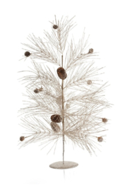 Zodax Champagne Spruce and Pinecone Tree - Product Mini Image