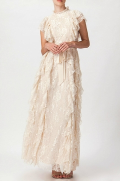Champagne & Strawberry Vintage Ivory Lace - Product List Image