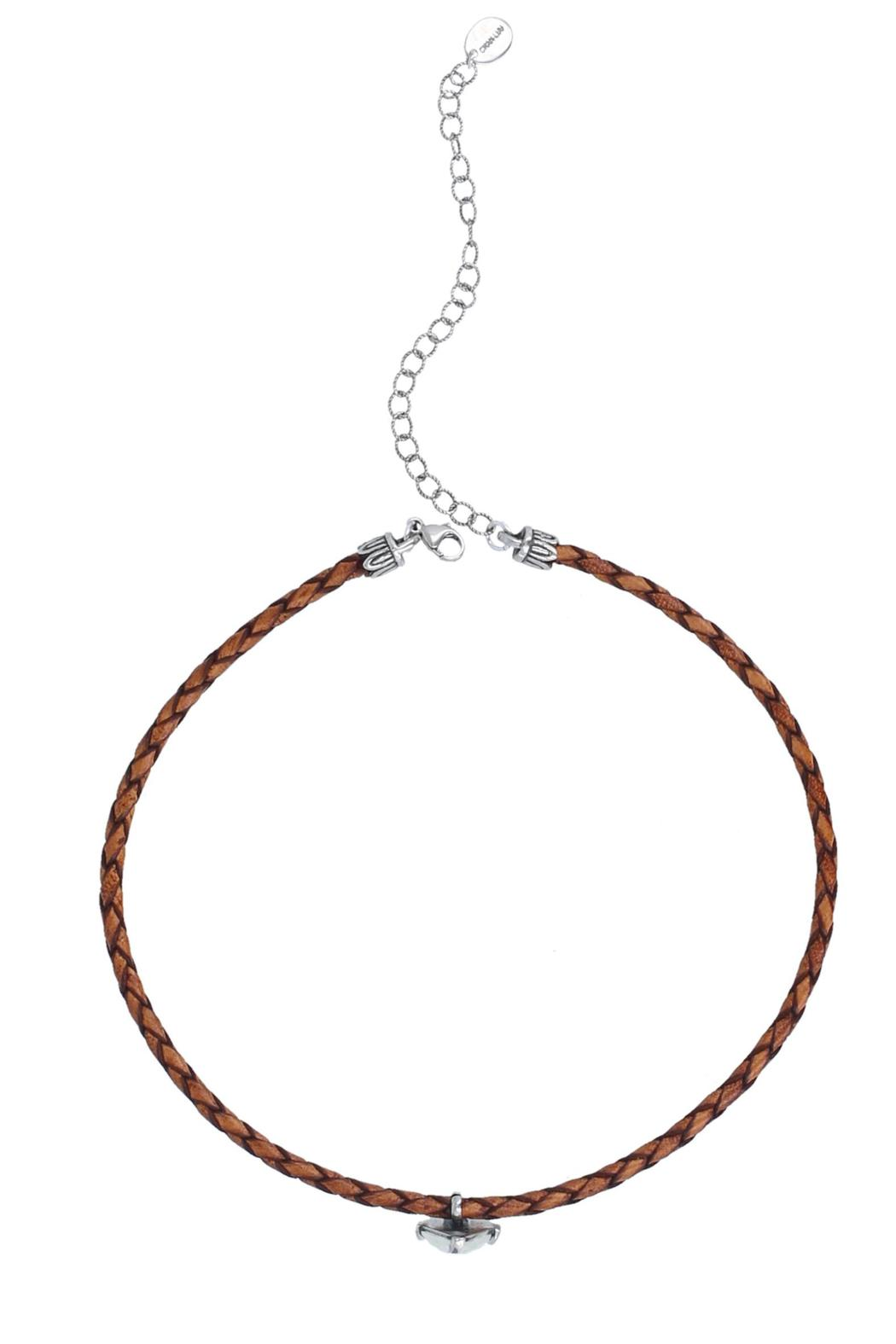 Chan Luu Brown Moonstone Choker - Side Cropped Image