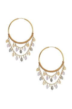 Chan Luu Gemstone Hoop Earrings - Product List Image