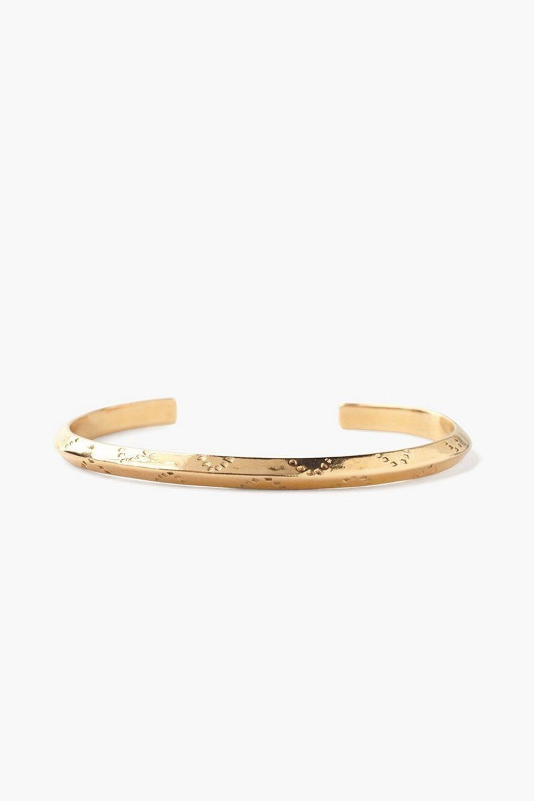 Chan Luu Gold Engraved Cuff - Front Cropped Image