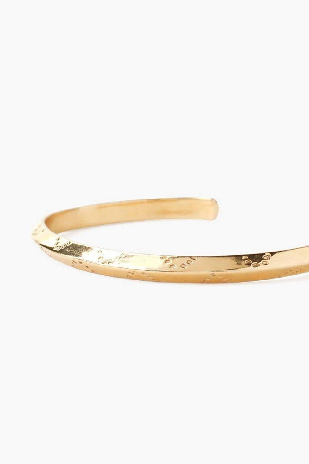 Chan Luu Gold Engraved Cuff - Front Full Image
