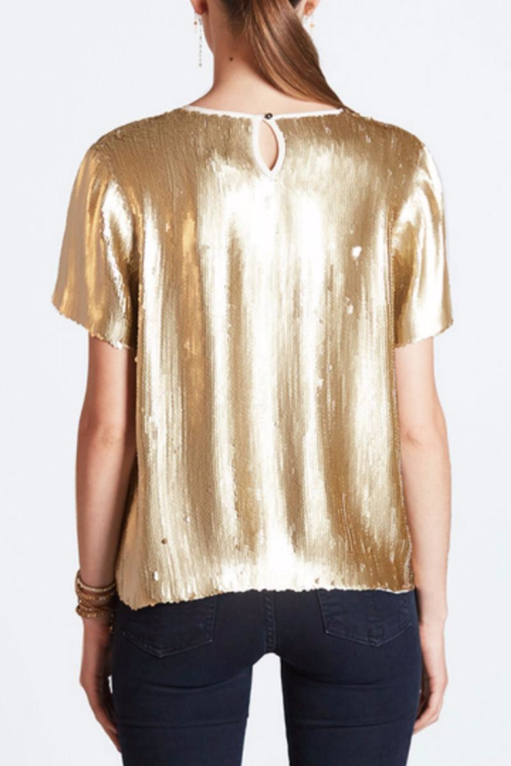 Chan Luu Gold Sequin Top - Front Full Image