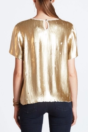 Chan Luu Gold Sequin Top - Front full body
