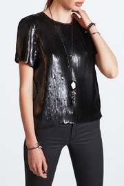 Chan Luu Matte Sequin Blouse - Product Mini Image