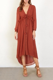 Chan Luu Ruffled Paprika Dress - Product Mini Image