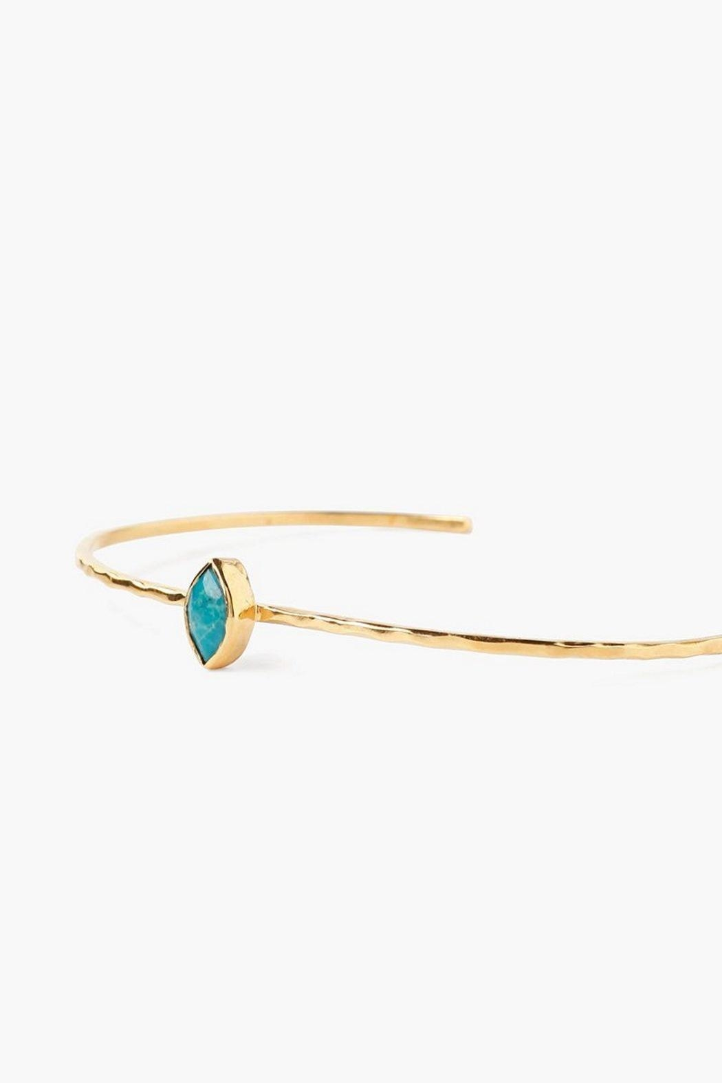Chan Luu Turquoise Evileye Cuff - Front Full Image
