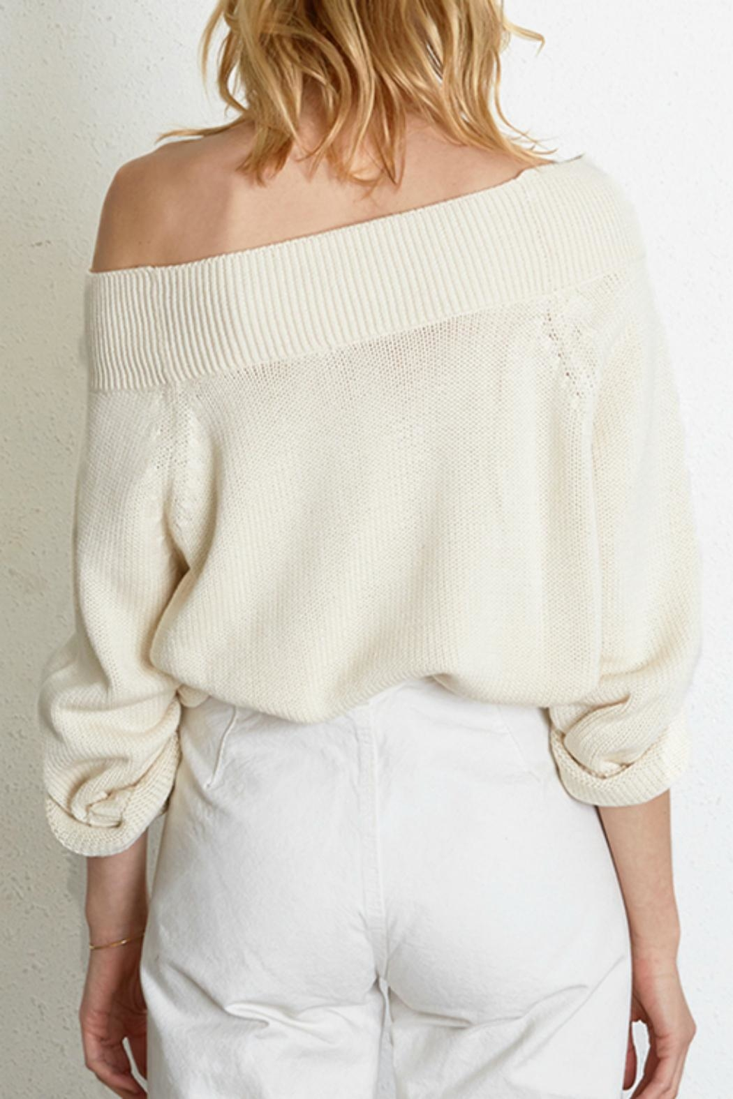 Chan Luu Cozy Cableknit Sweater - Front Full Image
