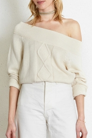 Chan Luu Cozy Cableknit Sweater - Front cropped
