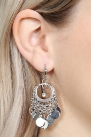 Riah Fashion Chandelier Dangling Earrings - Front full body