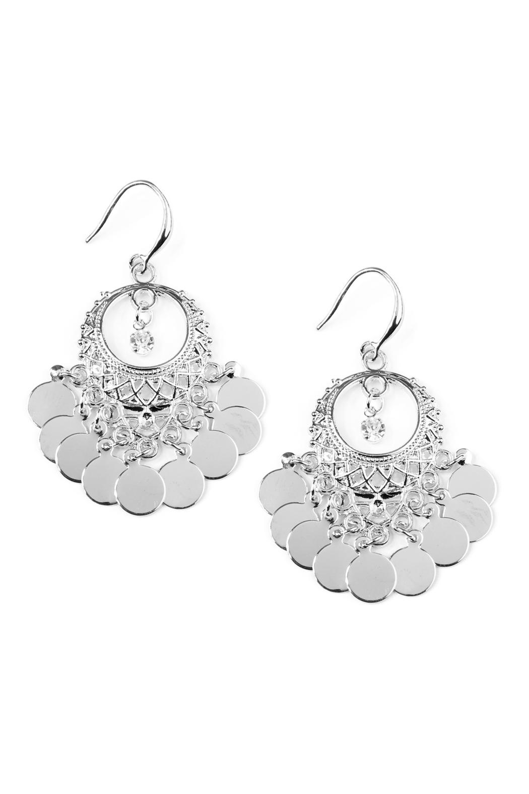 Riah Fashion Chandelier Dangling Earrings - Front Cropped Image