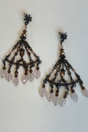 Dominique CHANDELIER EARRINGS - Front cropped