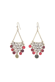 Giftcraft Inc.  Chandelier Earrings Red - Product Mini Image