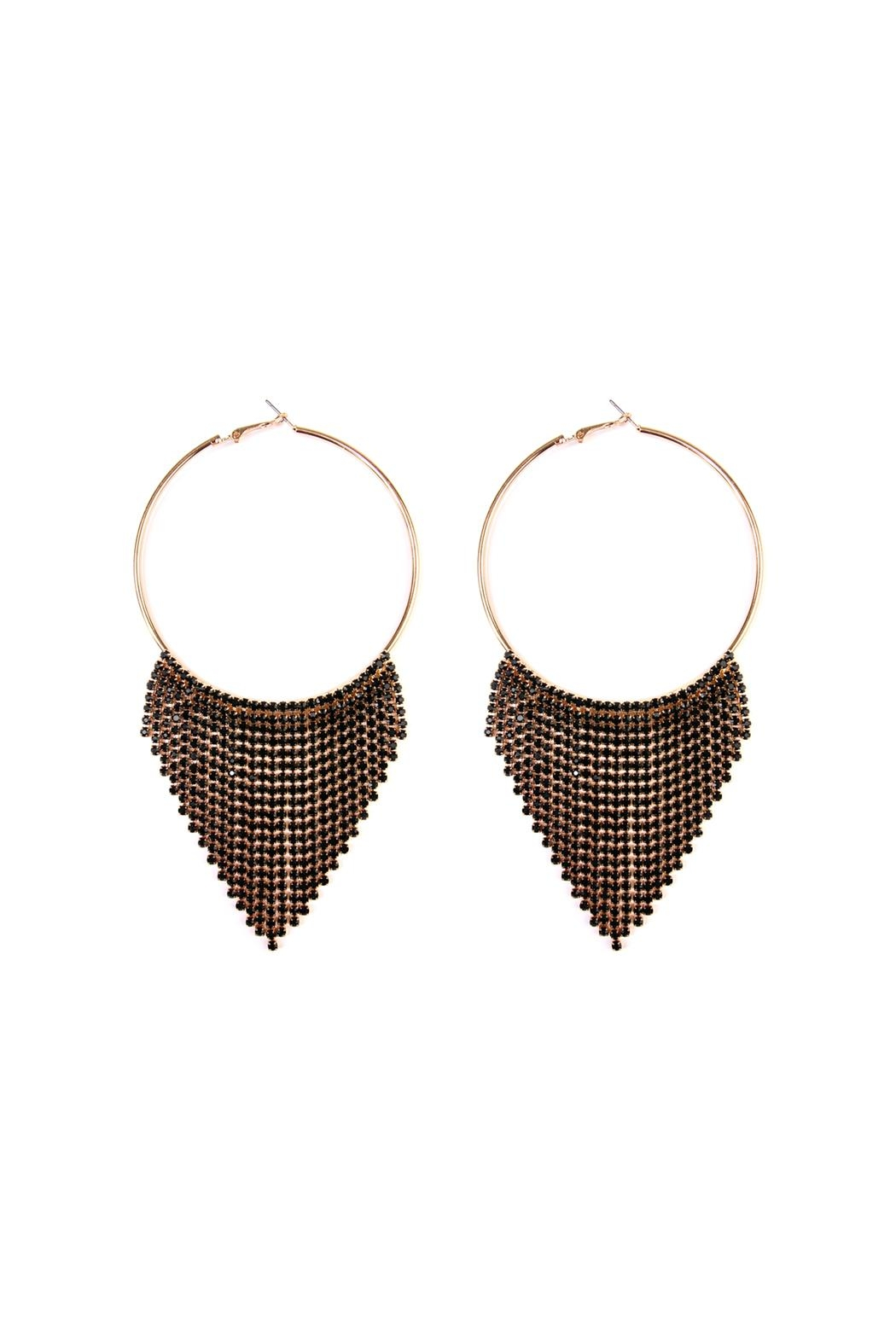 Riah Fashion Chandelier Hoop Earrings - Main Image