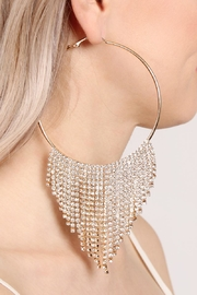 Riah Fashion Chandelier Hoop Earrings - Front full body