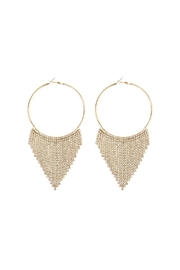 Riah Fashion Chandelier Hoop Earrings - Front cropped