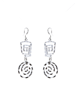Shoptiques Product: Silver Hammered Earring