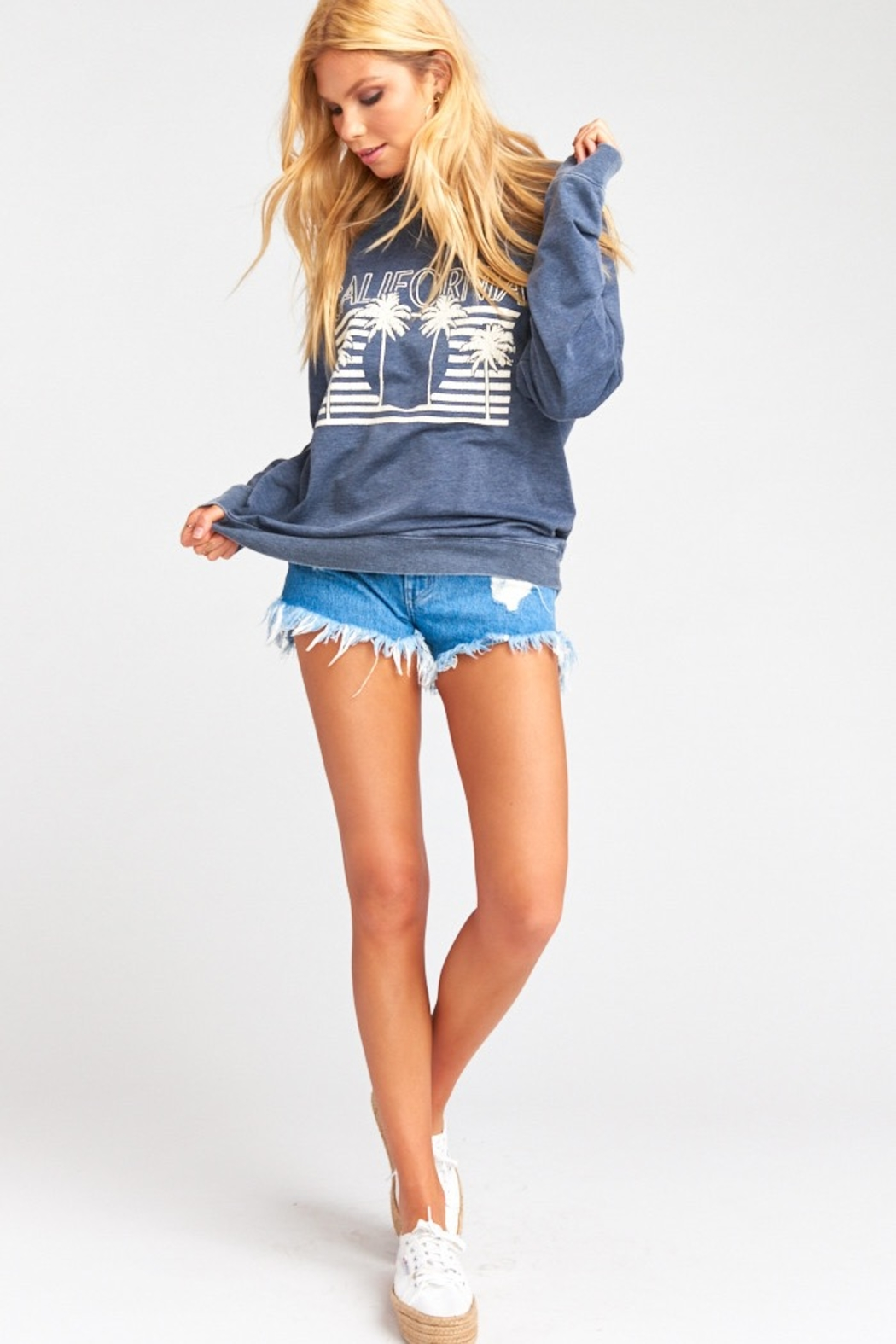 Show Me Your Mumu Chandler Graphic Pullover - Side Cropped Image