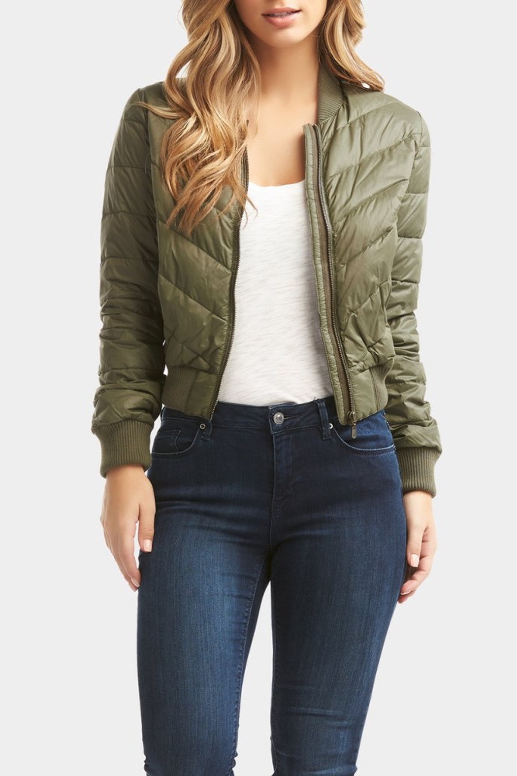 Tart Collections Chandler Puffer Bomber - Side Cropped Image