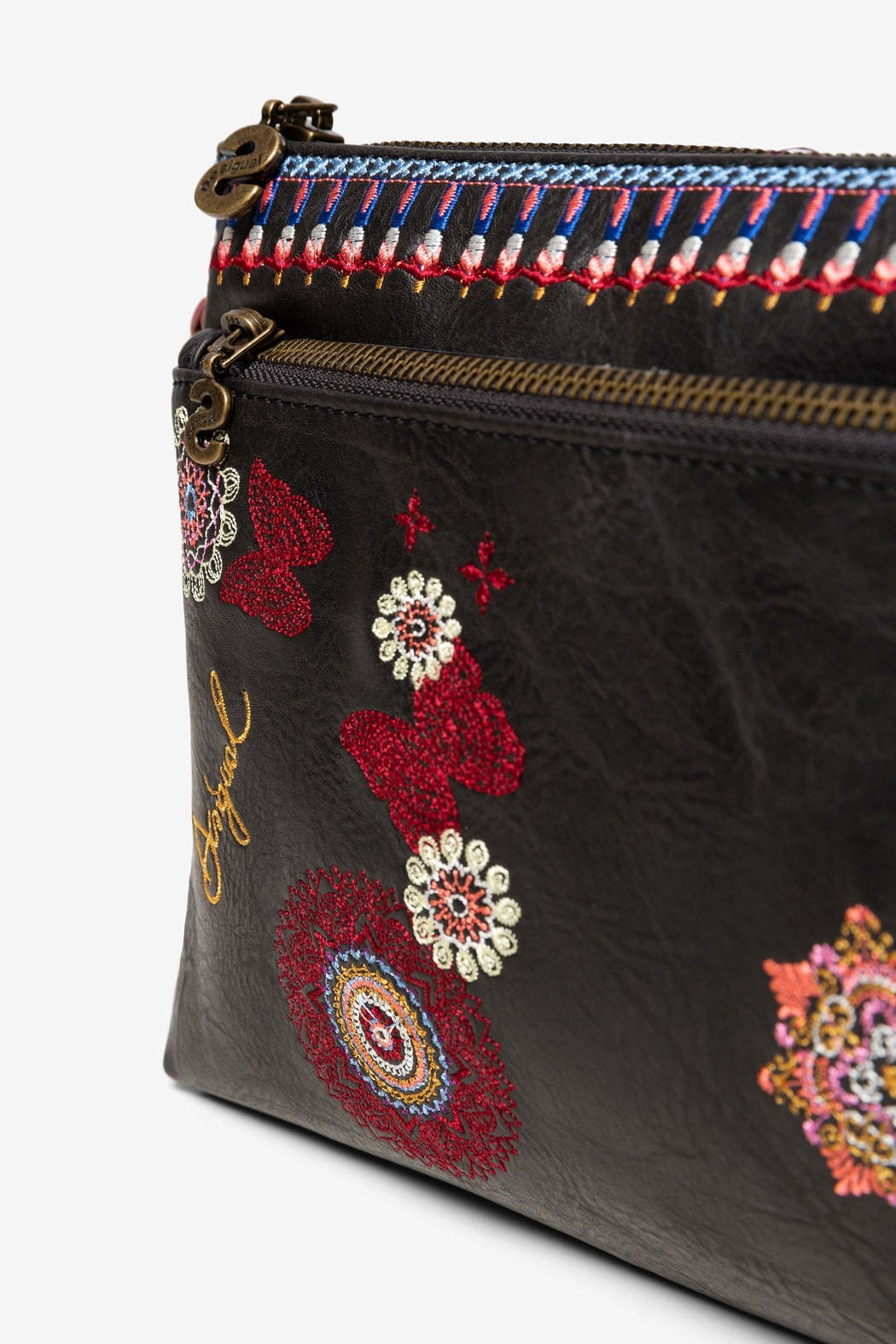 DESIGUAL Chandy Embroidered Messenger - Side Cropped Image