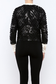 Channa Cropped Tied Jacket - Back cropped