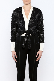 Channa Cropped Tied Jacket - Side cropped