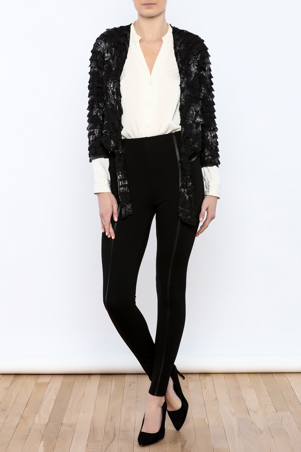 Channa Cropped Tied Jacket - Front Full Image