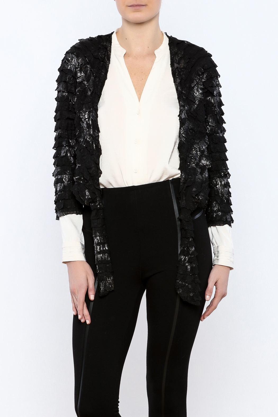 Channa Cropped Tied Jacket - Main Image