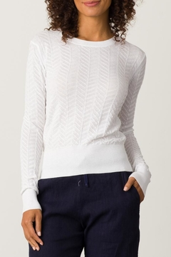 Margaret O'Leary Chantal Chevron Pullover - Product List Image