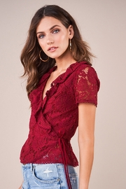 Sugarlips Chantilly Lace Wrap Top - Front cropped