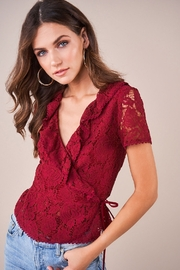 Sugarlips Chantilly Lace Wrap Top - Side cropped