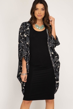 Shoptiques Product: Charcoal Animal Print