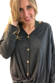 Fantastic Fawn Charcoal Button Down - Front full body