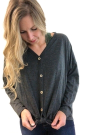 Fantastic Fawn Charcoal Button Down - Side cropped