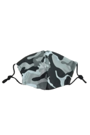Vava by Joy Hahn Charcoal Camo Face Mask - Front cropped