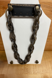 C & C Charcoal Chained Statement Necklace - Product Mini Image