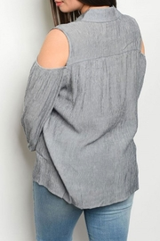 Zenobia Charcoal Cold Shoulder - Front full body