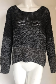 RD Style Charcoal Color-Block Crochet-Sweater - Product Mini Image