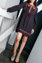 THML Clothing Charcoal Embroidered Dress - Product Mini Image