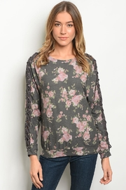 Available Charcoal Flower Top - Product Mini Image